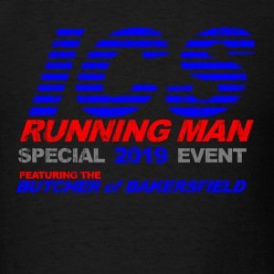 Black ICS Running Man  T-Shirts - Men's T-Shirt