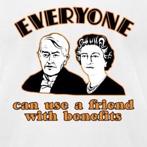 White Friends with Benefits  T-Shirts - Men's T-Shirt by American Apparel