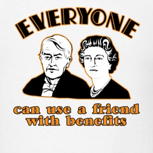 White Friends with Benefits  T-Shirts - Men's T-Shirt