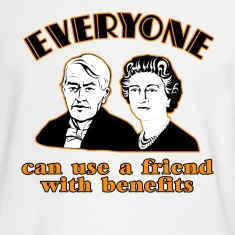 White Friends with Benefits  Long Sleeve Shirts