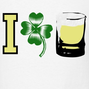 White I Clover Beer Irish Love T-Shirts - Men's T-Shirt