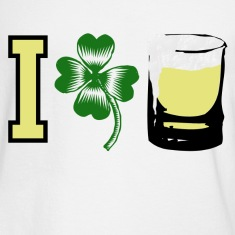 White I Clover Beer Irish Love Long Sleeve Shirts