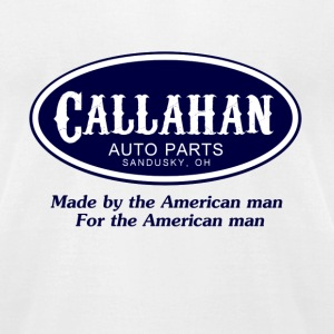 White Tommy Boy Callahan Auto T-Shirts - Men's T-Shirt by American Apparel