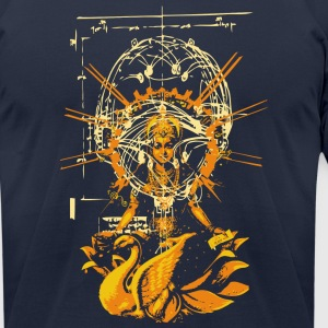 Navy siva or shiva fashion design T-Shirts - Men's T-Shirt by American Apparel