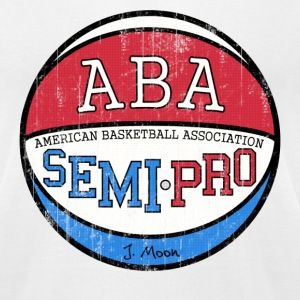 White Semi Pro ABA Tropics Moon T-Shirts - Men's T-Shirt by American Apparel