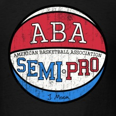 Black Semi Pro ABA Tropics Moon T-Shirts