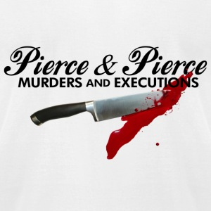 White American Psycho Pierce  T-Shirts - Men's T-Shirt by American Apparel
