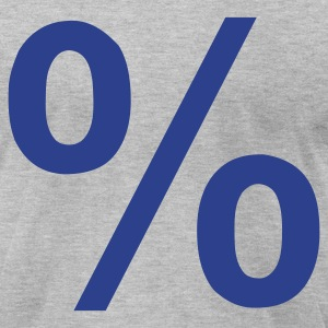Heather grey Percent - Sale - Price T-Shirts - Men's T-Shirt by American Apparel