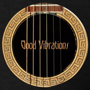Black Guitar Good Vibrations T-Shirts - Men's T-Shirt
