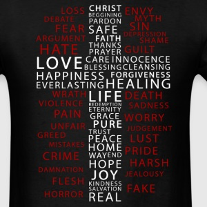 Contrast in Words - Men's T-Shirt