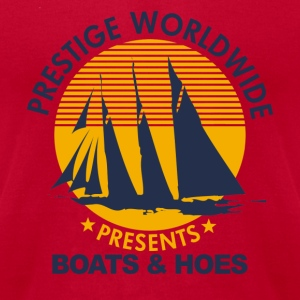 Light blue Step Brothers Boats Hoe's  T-Shirts - Men's T-Shirt by American Apparel