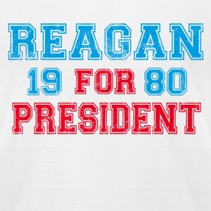 White Ronald Reagan 1980 Retro  T-Shirts - Men's T-Shirt by American Apparel