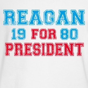 White Ronald Reagan 1980 Retro  Long Sleeve Shirts - Men's Long Sleeve T-Shirt