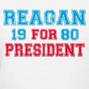 White Ronald Reagan 1980 Retro  Women's T-Shirts - Women's T-Shirt