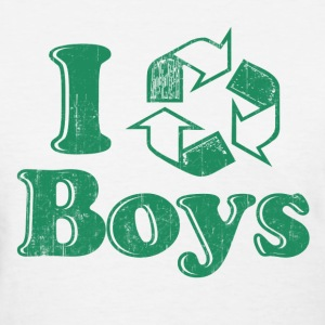White I Recycle Boys Humor Women's T-Shirts - Women's T-Shirt