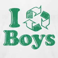 White I Recycle Boys Humor T-Shirts