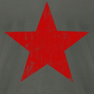 Asphalt Red Star faded  T-Shirts - Men's T-Shirt by American Apparel