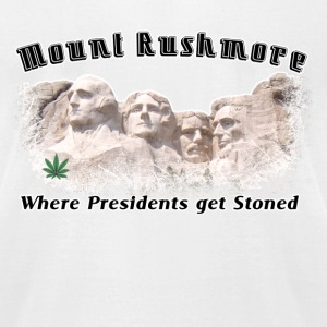 White Stoned THC Weed Rushmore  T-Shirts - Men's T-Shirt by American Apparel