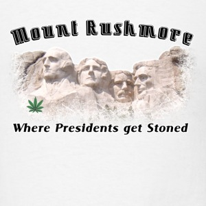 White Stoned THC Weed Rushmore  T-Shirts - Men's T-Shirt