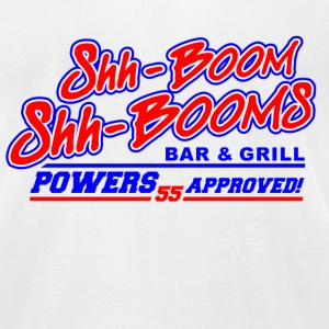 White Kenny Powers Shh Booms  T-Shirts - Men's T-Shirt by American Apparel