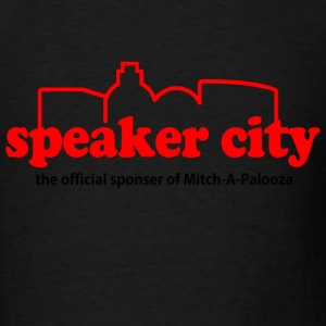Black Old School Speaker City T-Shirts - Men's T-Shirt
