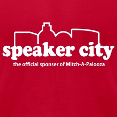 Red Old School Speaker City  T-Shirts
