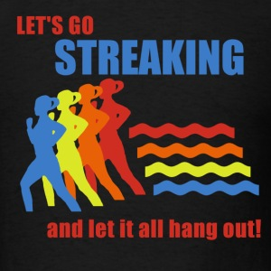 Black Old School Frank Streaking T-Shirts - Men's T-Shirt