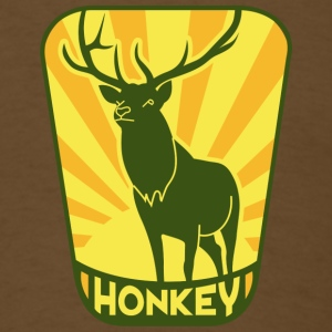 Brown Honkey Buck T-Shirts - Men's T-Shirt