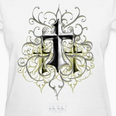White Crosses by TDG at WHOL-E.COM Women's T-Shirts