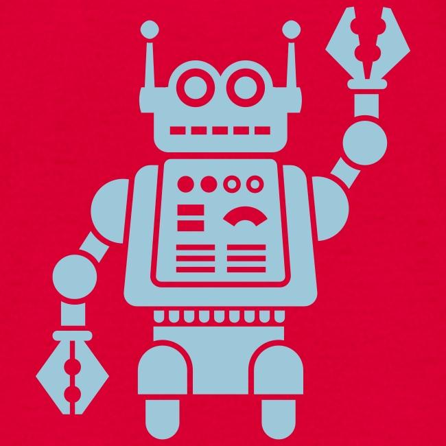 Friendly Robot [LT Blu on Red]