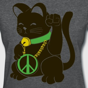 Black Peace Cat - Women's T-Shirt