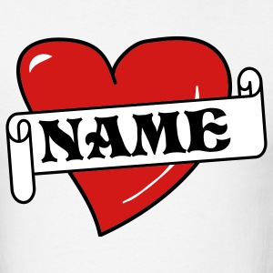 White Love Open Name Tattoo T-Shirts - Men's T-Shirt