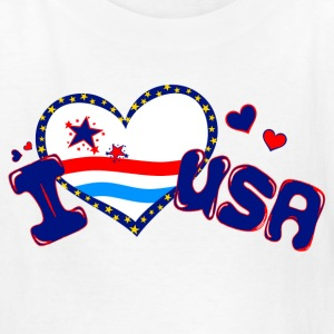 White i heart USA Kids' Shirts - Kids' T-Shirt