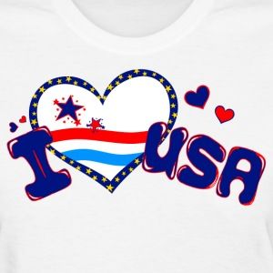White i heart USA Women's T-Shirts - Women's T-Shirt