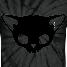 Black Cat Skull Tie dye