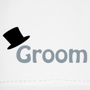 White Groom Caps - Baseball Cap