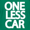 Kelly green One Less Car Biker  T-Shirts - Men's T-Shirt by American Apparel