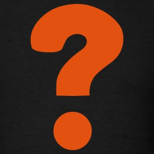 Black Question Mark / ? T-Shirts - Men's T-Shirt