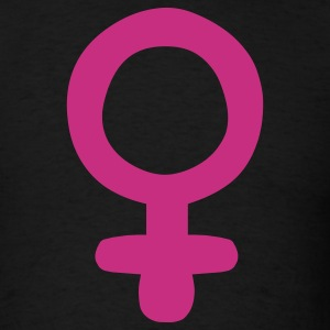 Black Female Sign / Feminism T-Shirts - Men's T-Shirt