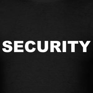 Black Security T-Shirts - Men's T-Shirt