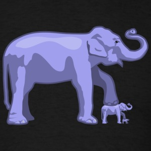 Elephant on Elephant on Elephant (Standard weight men's T) - Men's T-Shirt