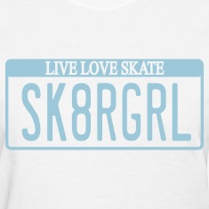 Skater Girl License Plate Women's T-shirt