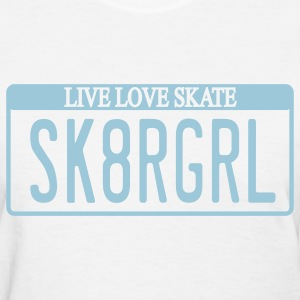 Skater Girl License Plate Women's T-shirt - Women's T-Shirt