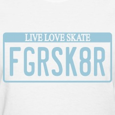 Figure Skater License Plate T-Shirt