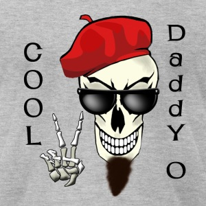 Cool Daddy - O Beatnik Skull - Men's T-Shirt by American Apparel