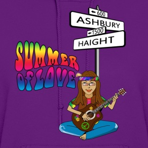 Haight Ashbury Summer of Love Women's Zipper Hoodie - Women's Hoodie