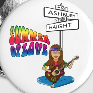 Haight Ashbury Summer of Love Largel Buttons - Large Buttons