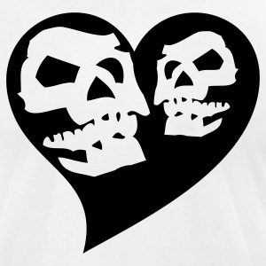 White skulls T-Shirts - Men's T-Shirt by American Apparel