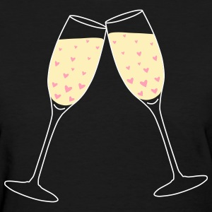 Black Toast Love Bubbles Women's T-Shirts - Women's T-Shirt