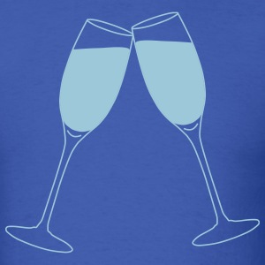 Royal blue Champagne Glass Toast T-Shirts - Men's T-Shirt